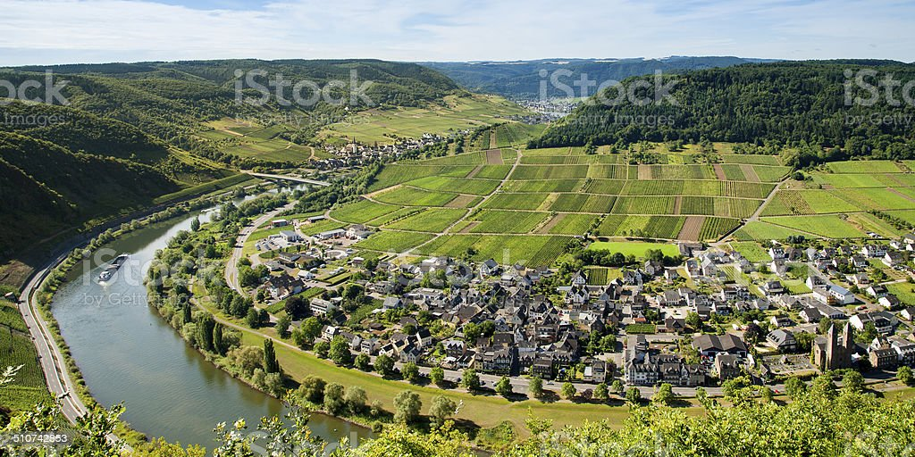 the river mosel stock photo