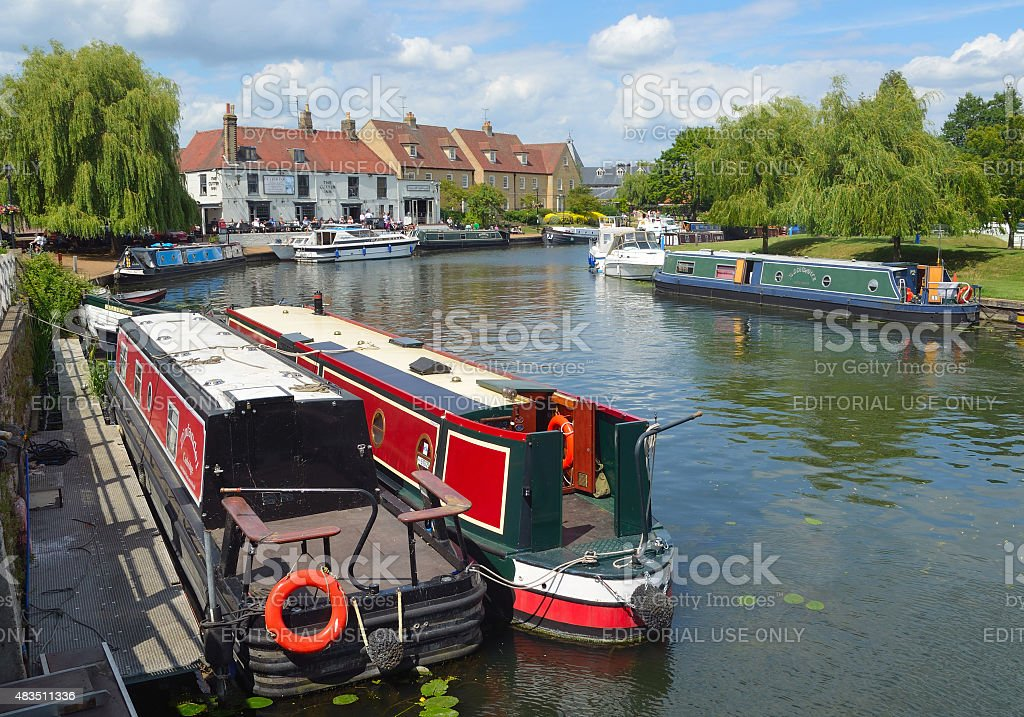 The river Ouse at Ely stock photo