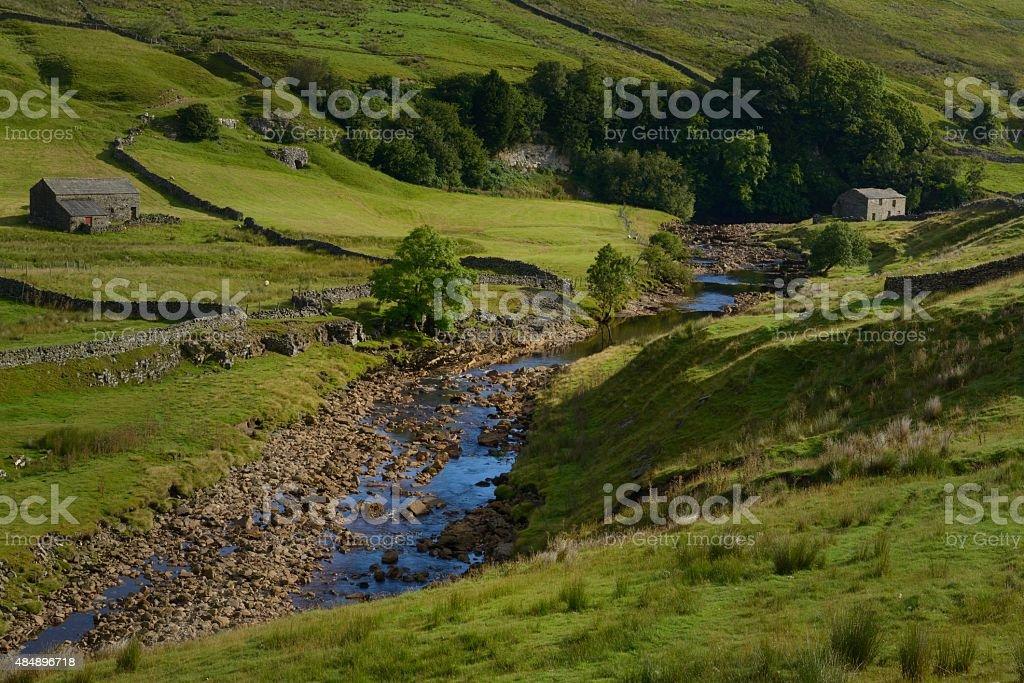 The River Swale above Keld stock photo