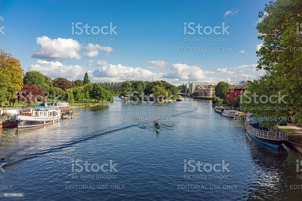 The River Thames at Reading in Berkshire, UK. stock photo