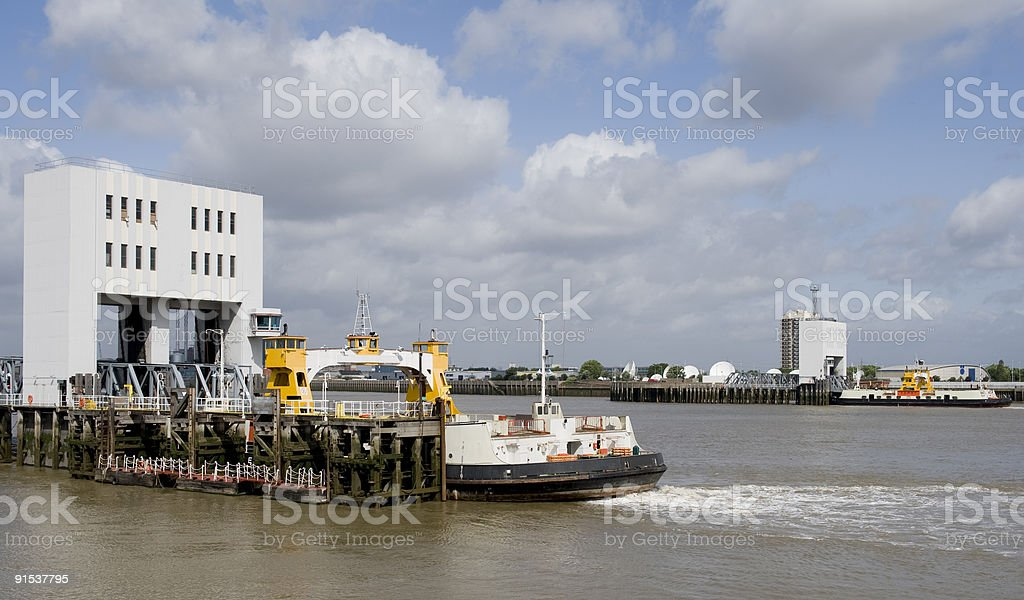 The River Thames at Woolwich stock photo