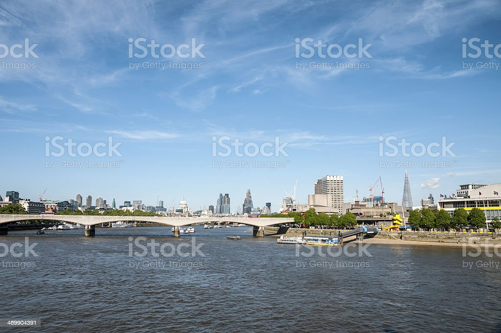 The River Thames In London, England royalty-free stock photo