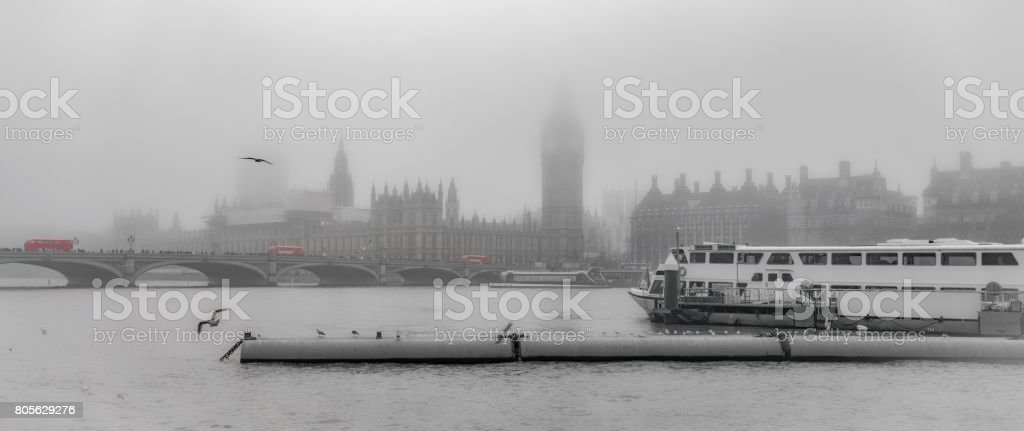 The River Thames in London stock photo