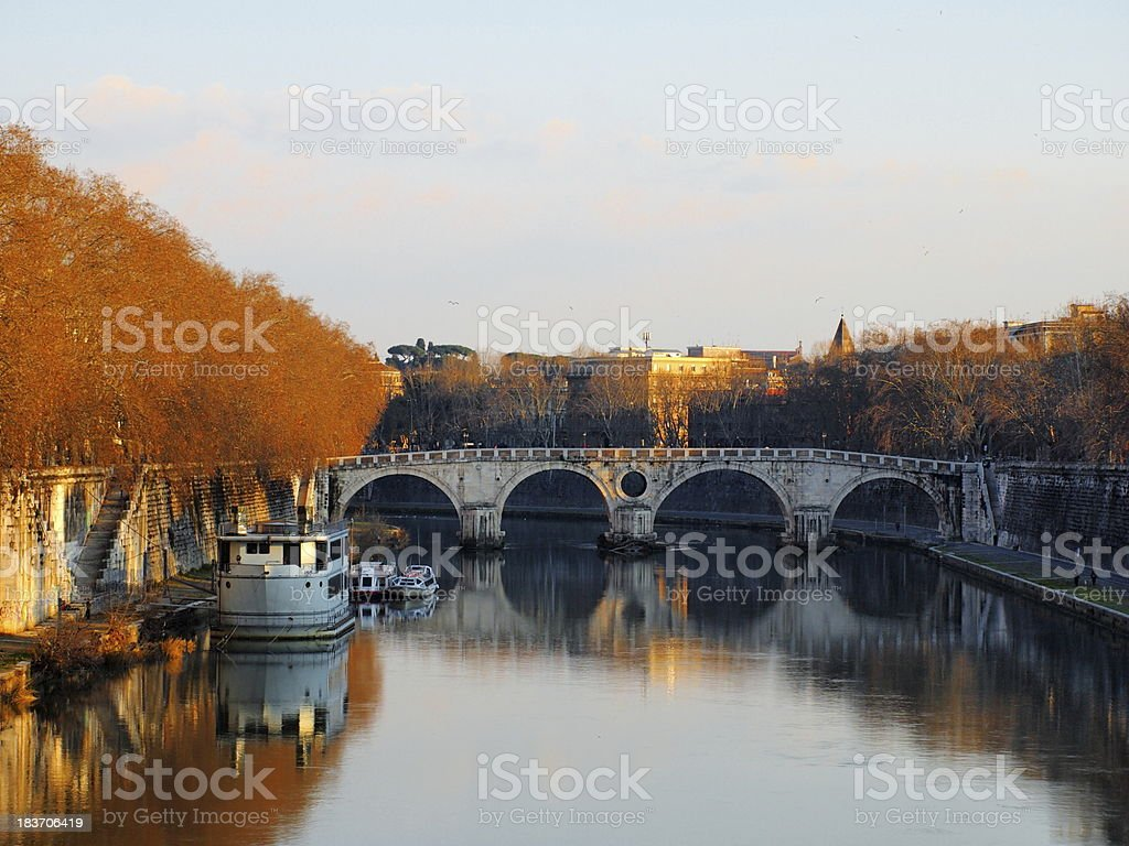 The River Tiber, Rome, Italy royalty-free stock photo