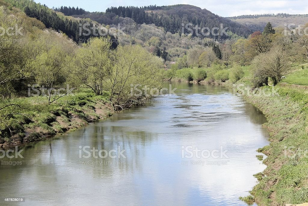 The River Wye at Brockweir stock photo