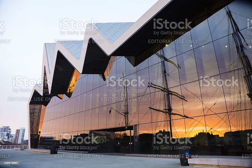 The Riverside Museum, Glasgow stock photo