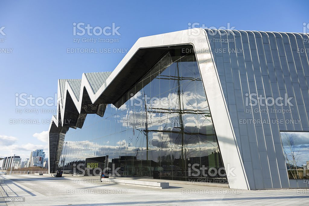 The Riverside Museum, Glasgow royalty-free stock photo