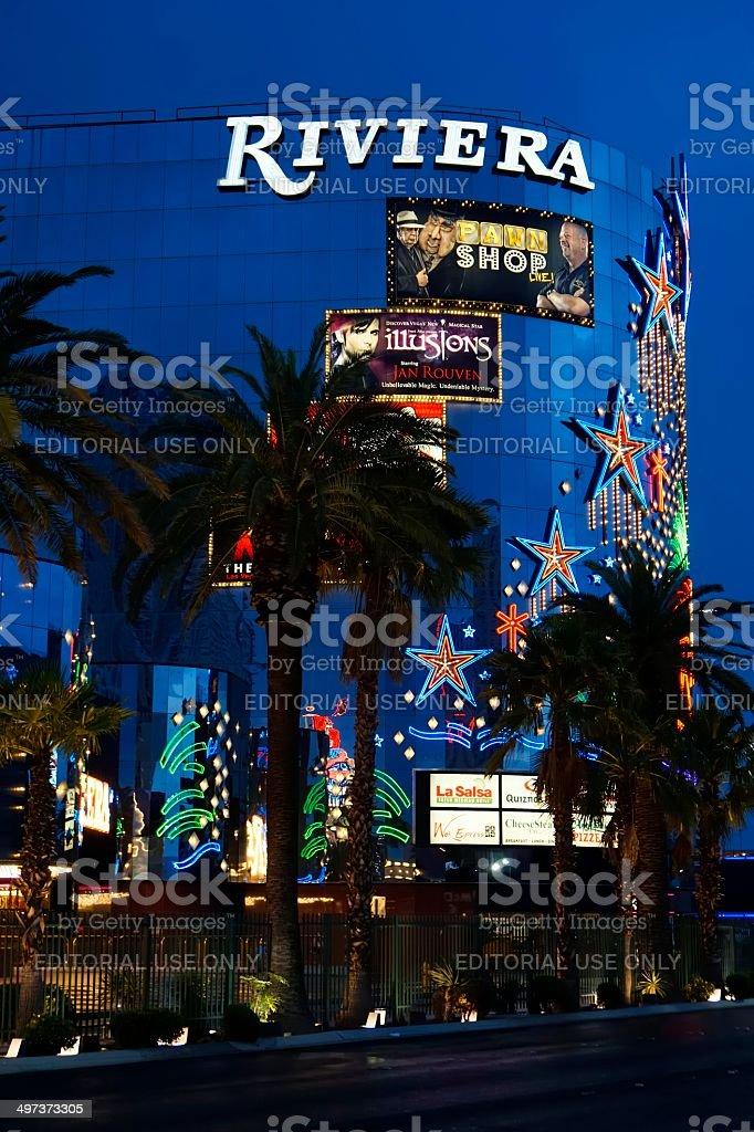 The Riviera Casino, Las Vegas stock photo