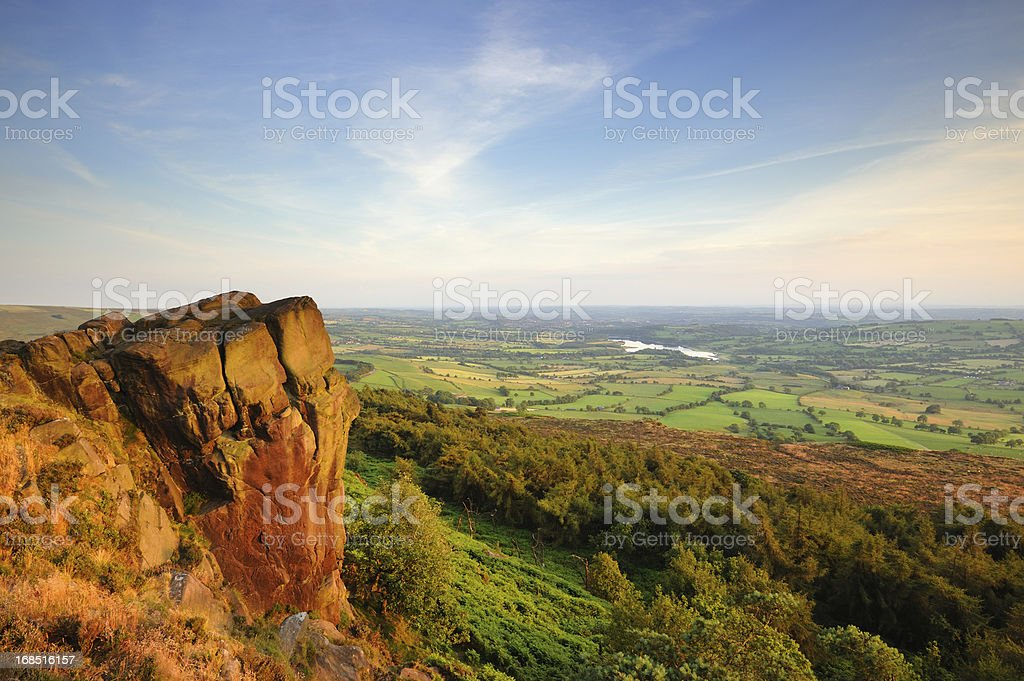 The Roaches, Peak District National Park stock photo