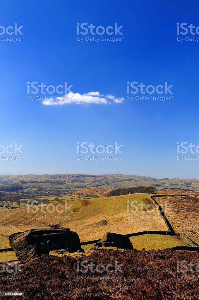 The Roaches, Peak District stock photo