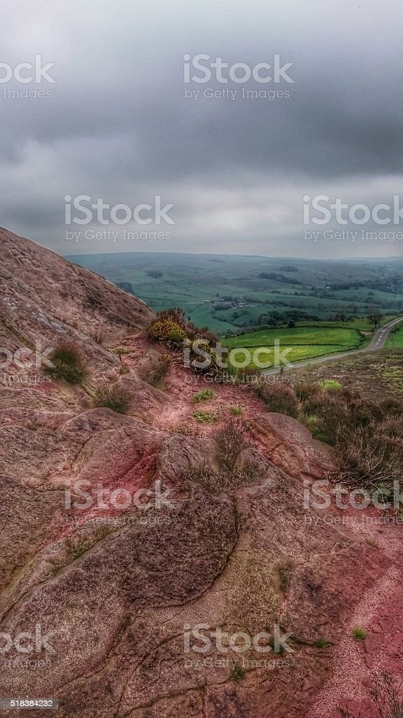 The Roaches Staffordshire Moorlands Rocks stock photo