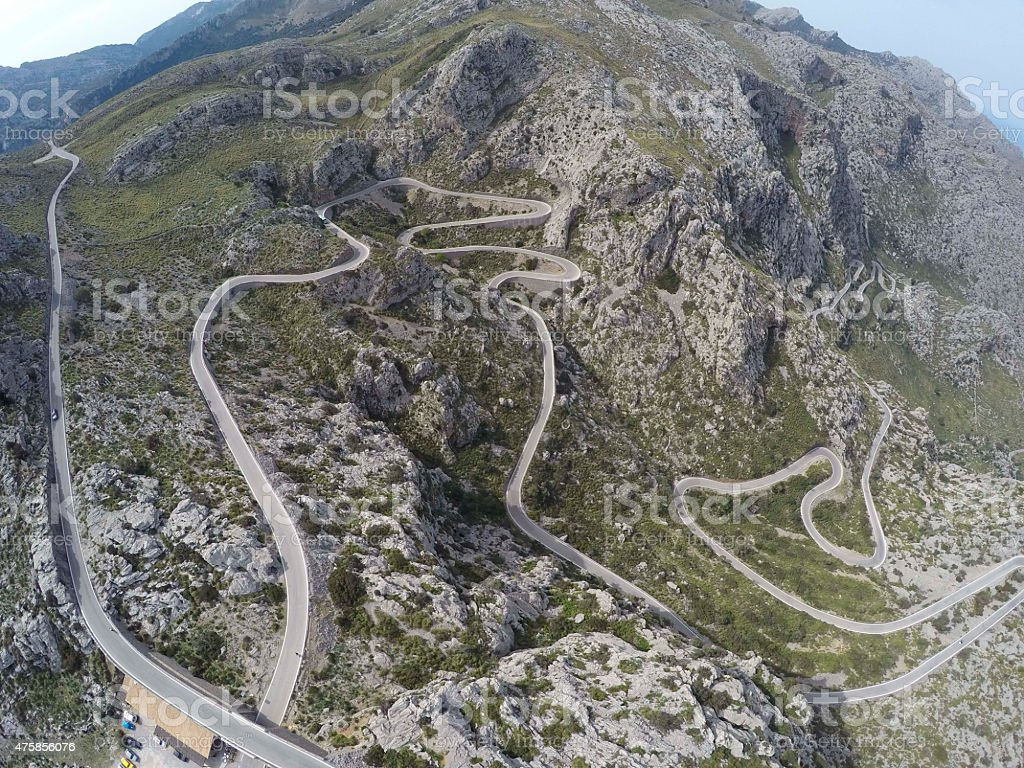 The crazy road to Port de Sa Colobra - shoot from a drone - GoPro4...