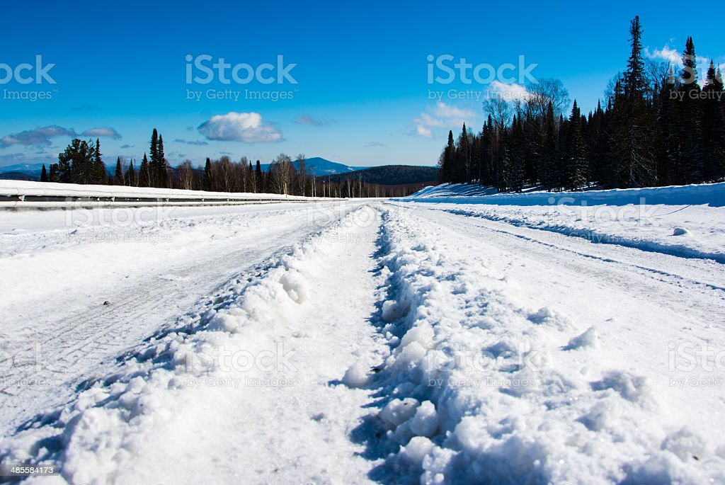 The road from the pass. royalty-free stock photo