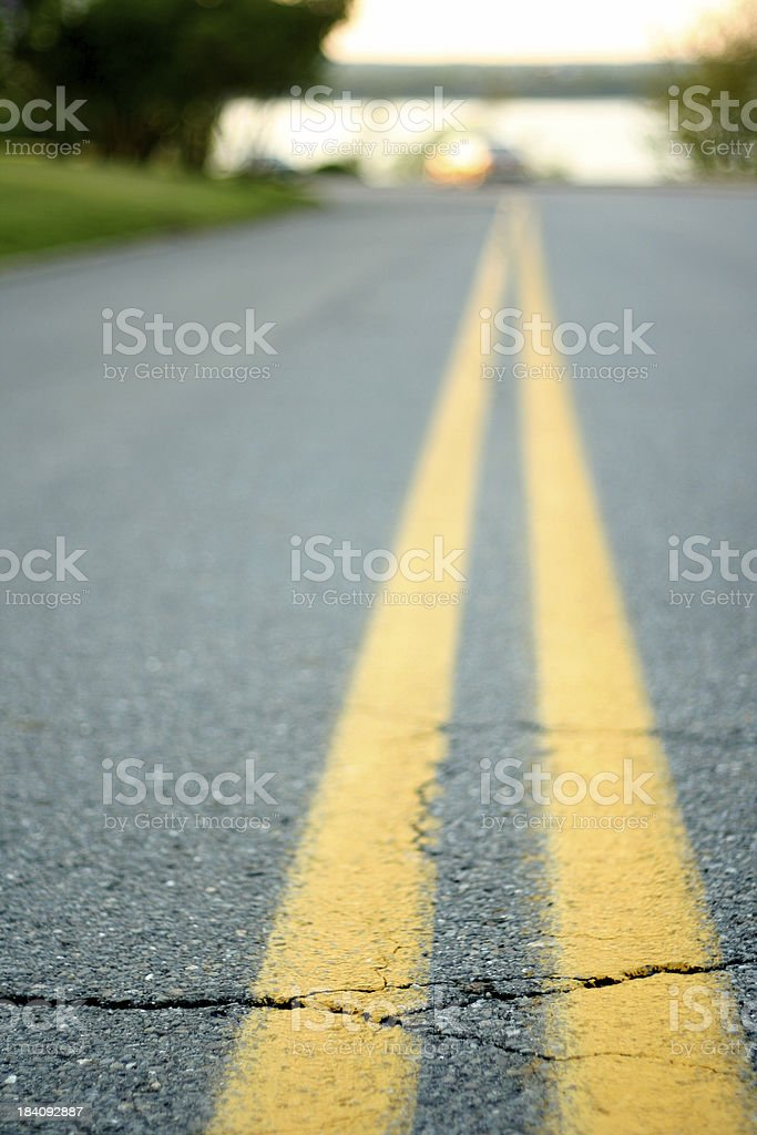 The road goes on stock photo