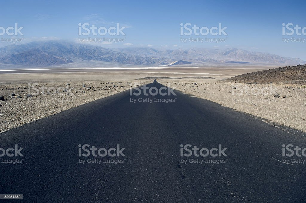 The Road Into Death Valley stock photo
