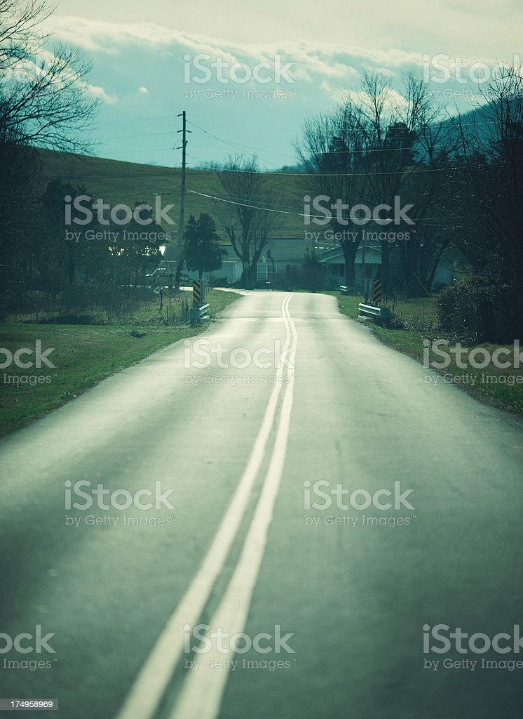the road less travelled royalty-free stock photo