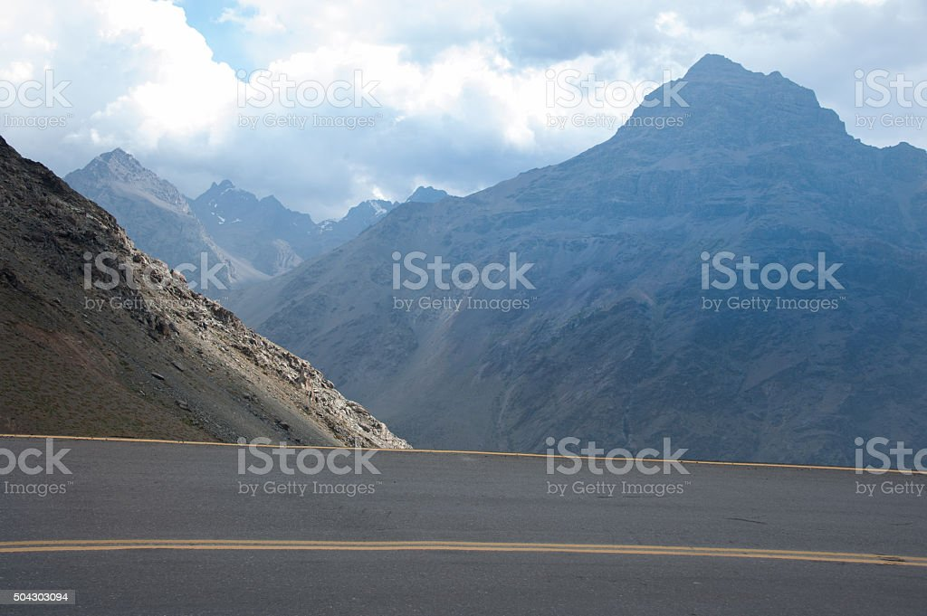 The road of 29 curves, dangerous stock photo