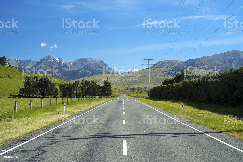 The Road Through Arthur's Pass royalty-free stock photo