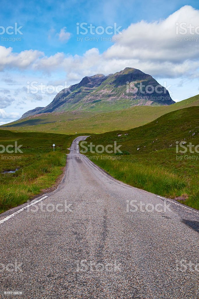 The Road Through Glen Torridon stock photo