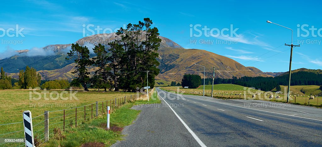 The Road To Arthur's Pass National Park, New Zealand stock photo