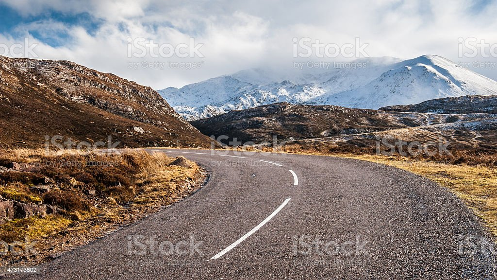 The Road to Assynt stock photo