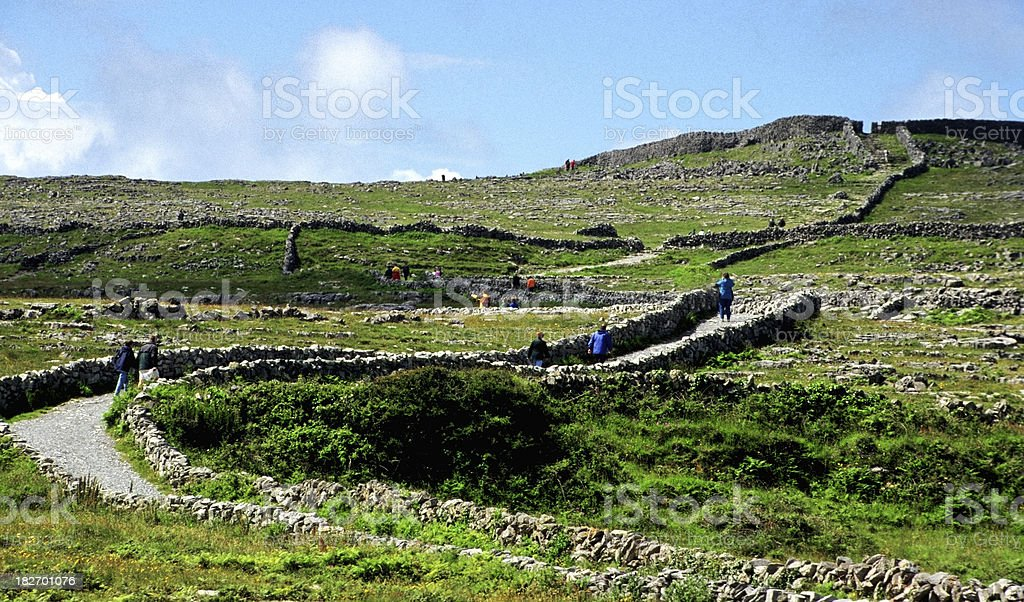 the road to Dun Aengus stock photo