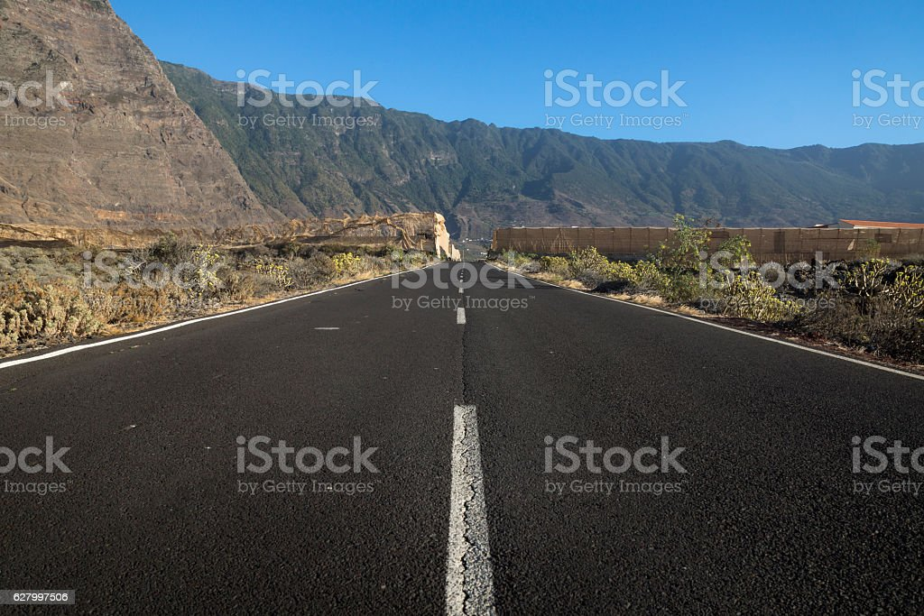 The road to El Golfo stock photo