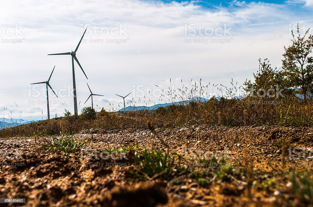 The road to gree energy stock photo