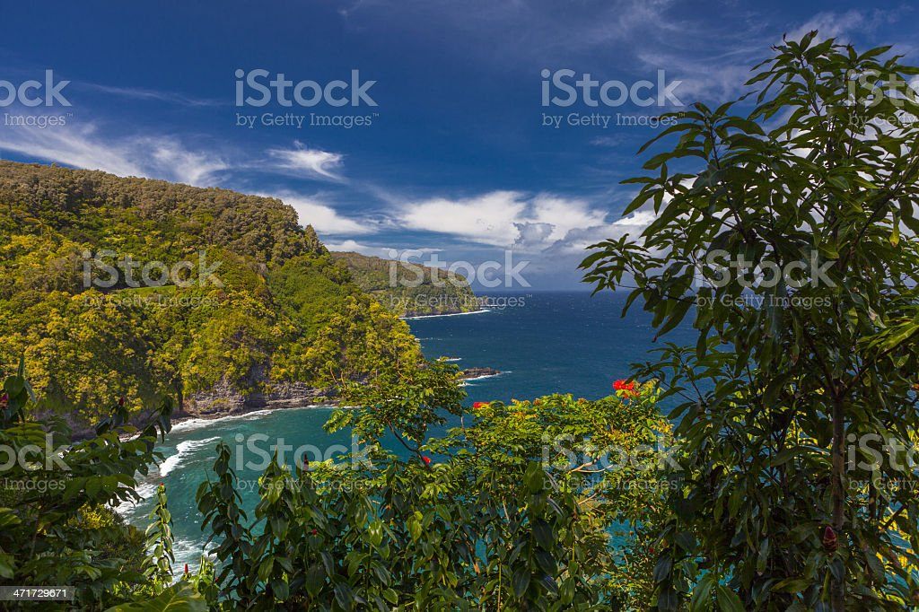 The Road to Hana royalty-free stock photo