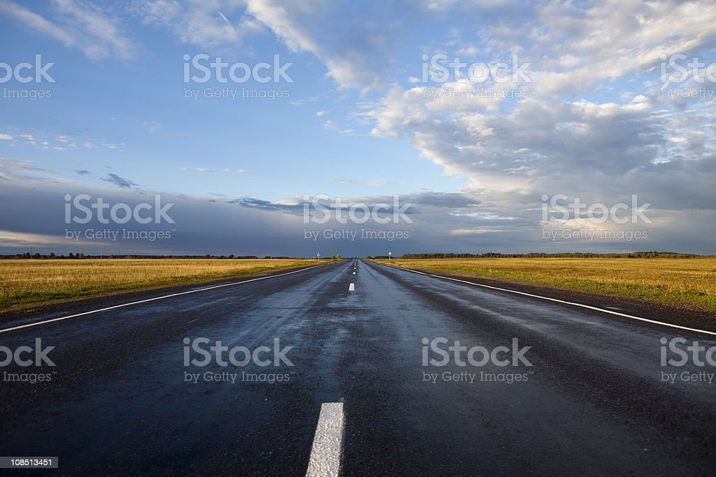 The road to heaven stock photo