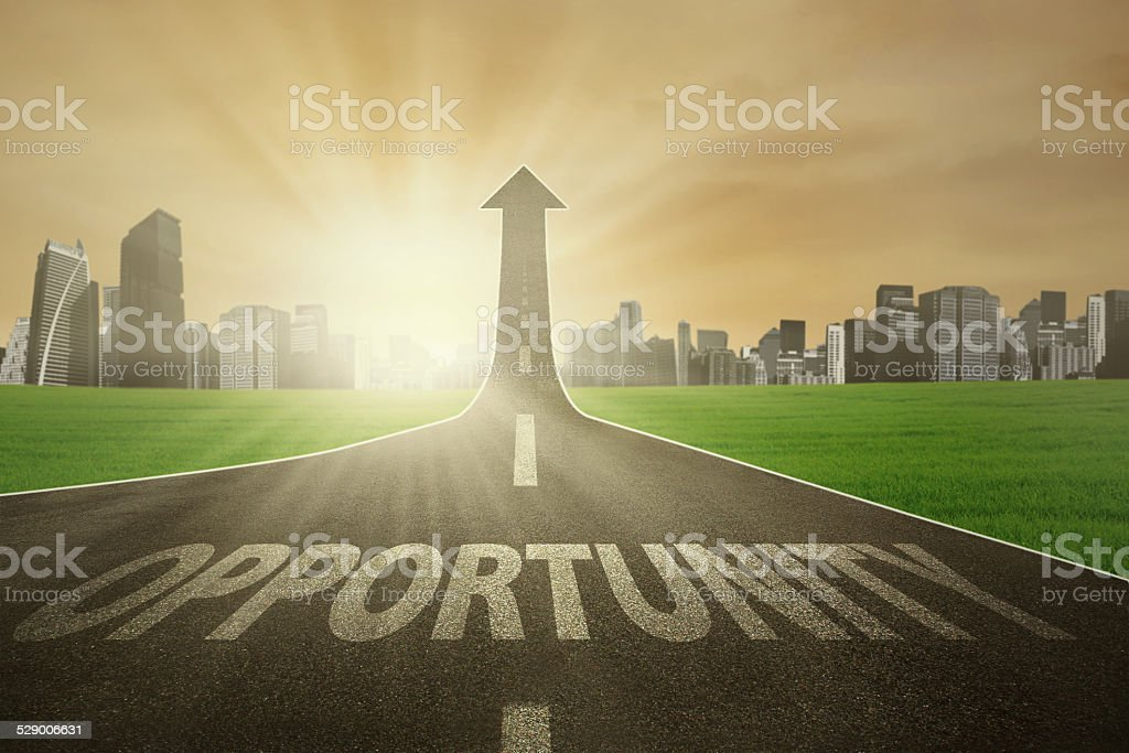 The road to improve opportunity stock photo