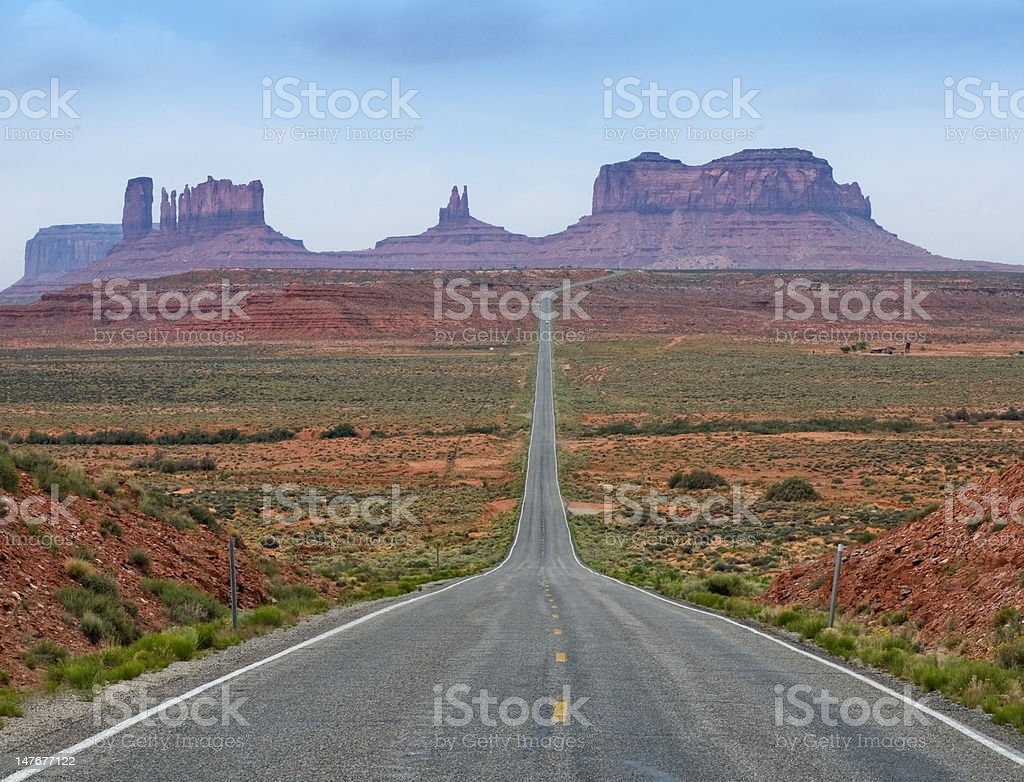 The Road to Monument Valley, Utah, USA royalty-free stock photo