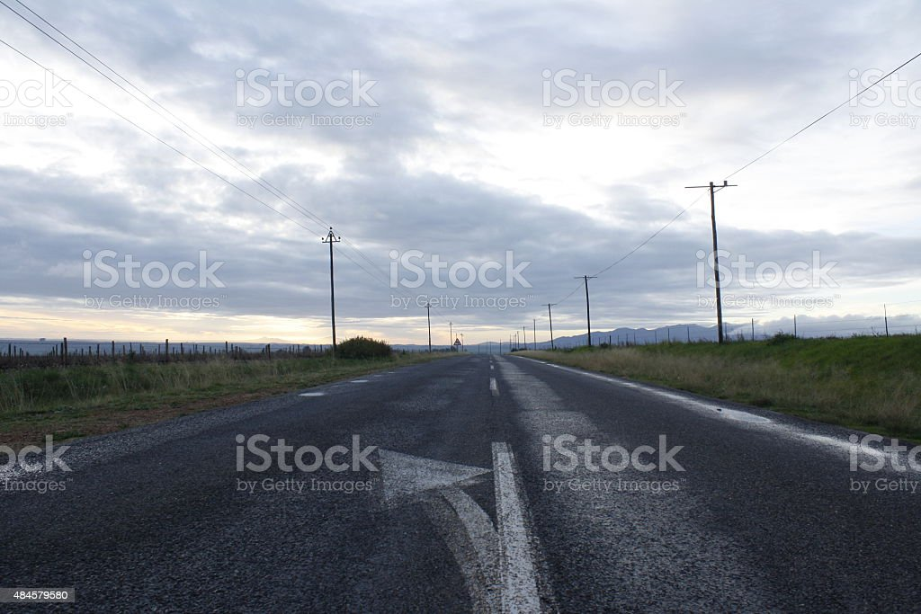 The Road to Nowhere stock photo