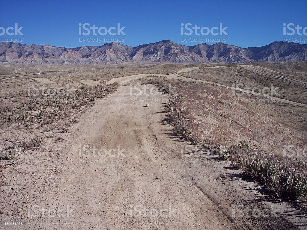 The Road to Nowhere, Seriously royalty-free stock photo