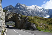 The road to Susten pass on the Swiss alps