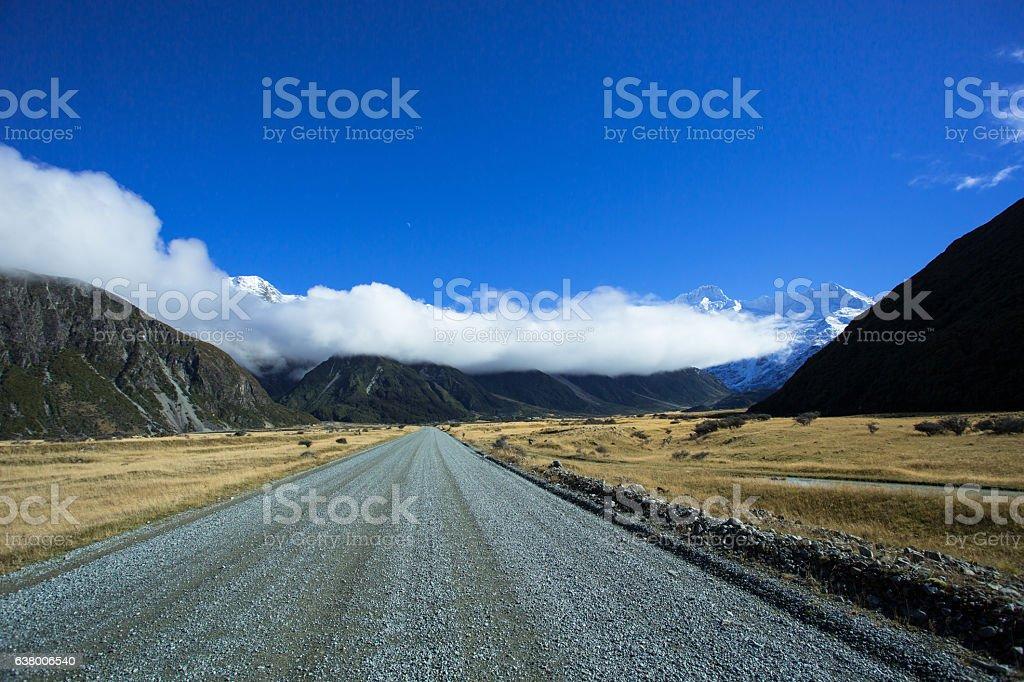 The Road To Tasman Valley stock photo