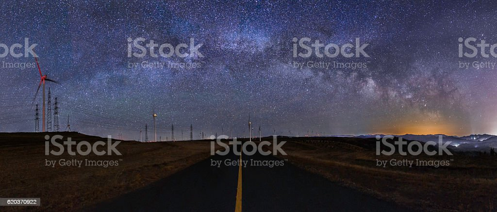 The road to the Milky Way stock photo