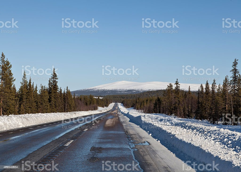The road to the mountains royalty-free stock photo