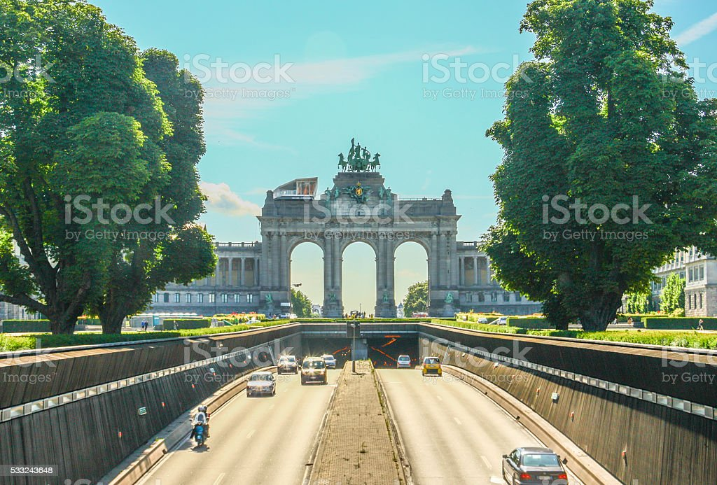 The road to The Triumphal Arch stock photo