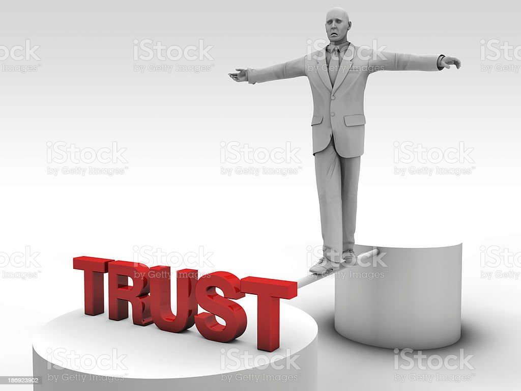 The road to trust royalty-free stock photo