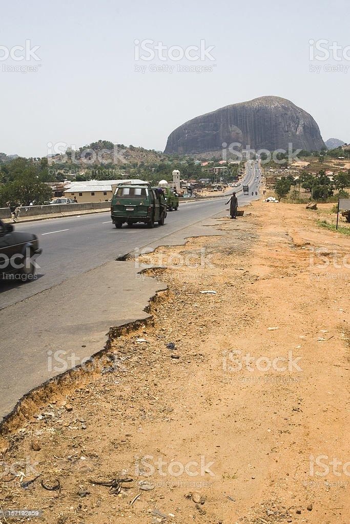 The road to Zuma Rock stock photo