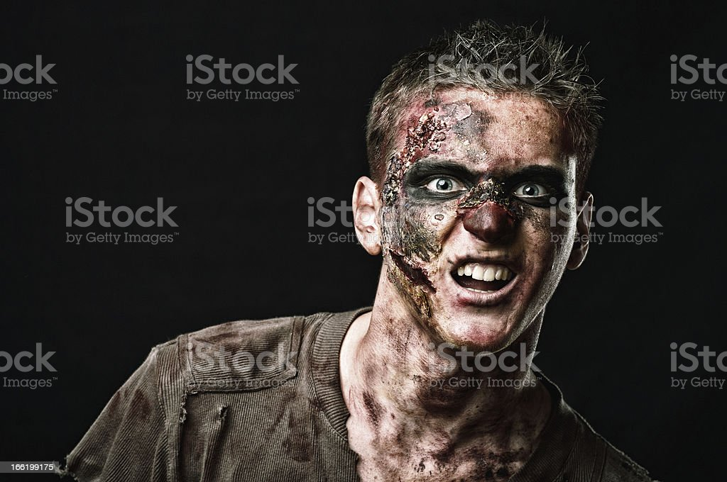 The roar  zombie is monster stock photo