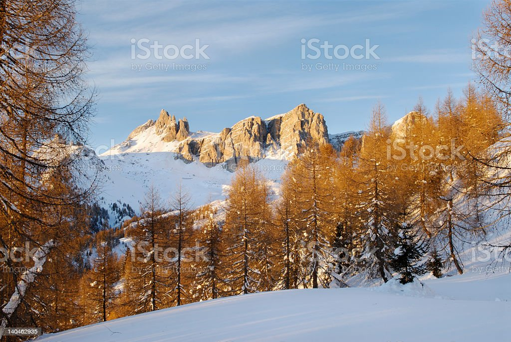The Rocchette (Dolomites - Italy) royalty-free stock photo