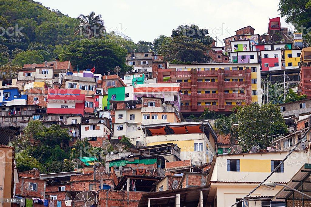 The Rocinha favela stock photo