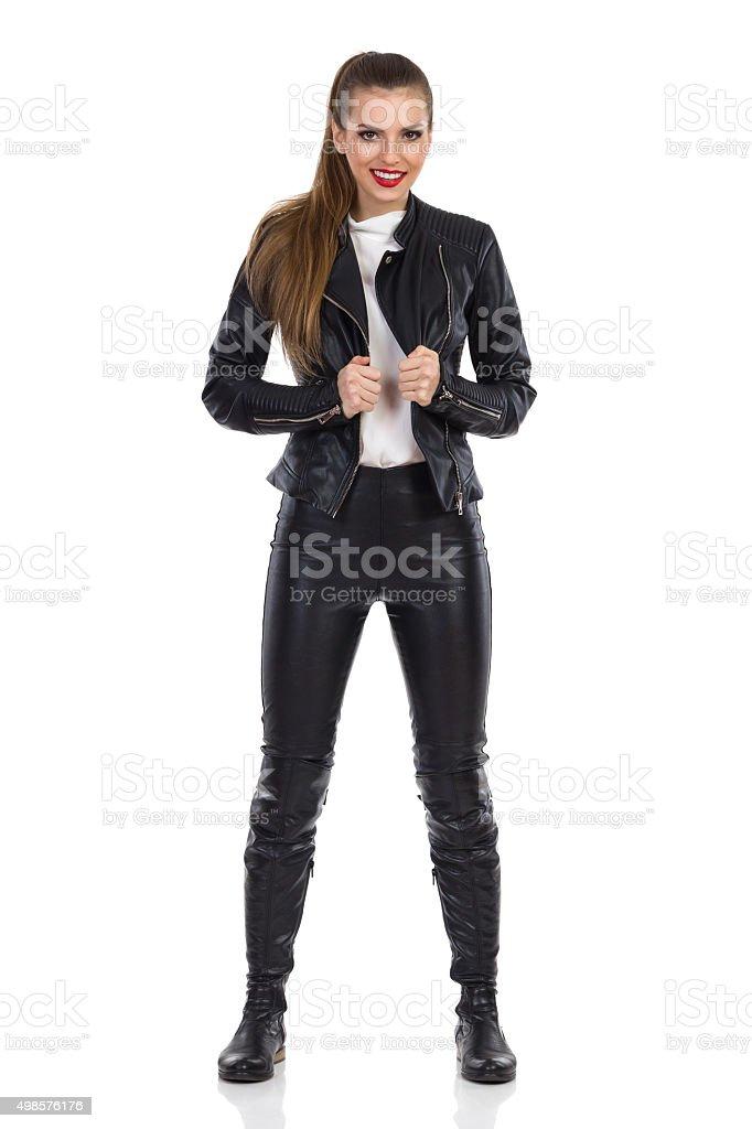 The Rock Girl stock photo