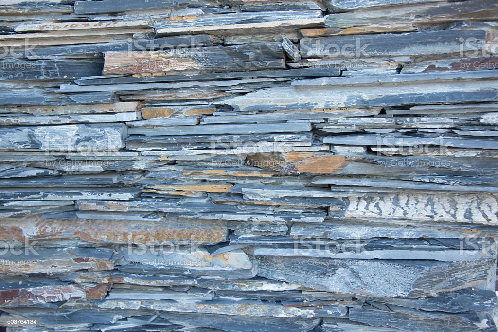 The rock material modern home. stock photo