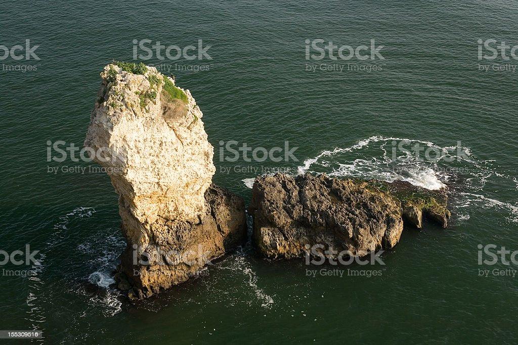 The rock, north bay of Kiyikoy (Medea), Turkey stock photo