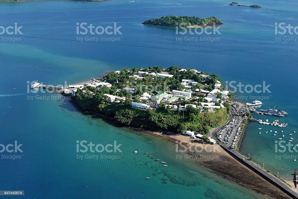 Le Rocher de Dzaoudzi, Mayotte stock photo