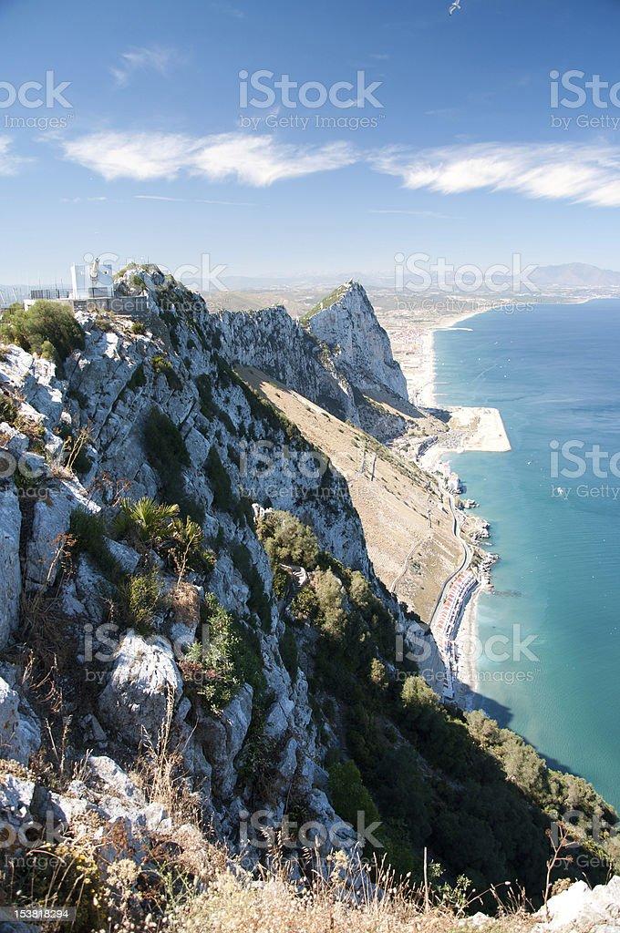 The Rock of Gibraltar stock photo