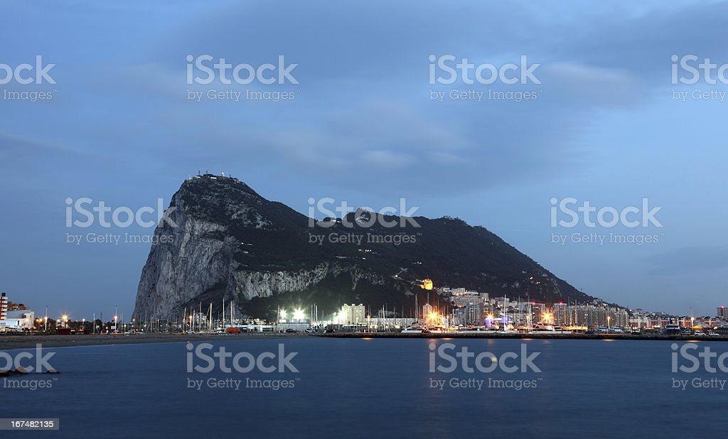 The Rock of Gibraltar royalty-free stock photo
